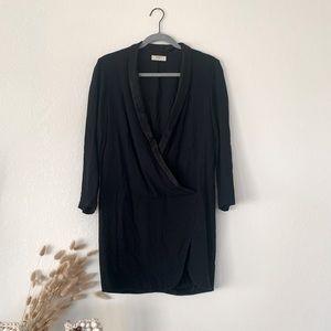 BA&SH Tuxedo Long Sleeve Mini Dress